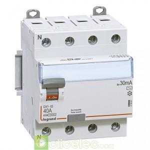 DX3-ID 4PG 40A AC 30MA - 411661 Legrand Interrupteur Différentiel
