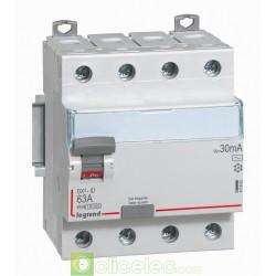 Interrupteur différentiel DX3-ID 4PG 63A AC 30MA - 411662 Legrand