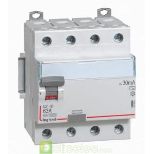 DX3-ID 4PG 63A AC 30MA - 411662 Legrand Interrupteur Différentiel