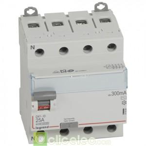 DX3-ID 4PG 25A AC 300MA - 411664 Legrand Interrupteur Différentiel