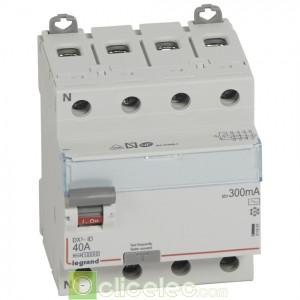 DX3-ID 4PG 40A AC 300MA - 411665 Legrand Interrupteur Différentiel