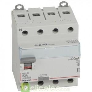 DX3-ID 4PG 63A AC 300MA - 411666 Legrand Interrupteur Différentiel