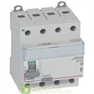 DX3-ID 4PG 63A AC-S 300MA - 411669 Legrand Interrupteur Différentiel