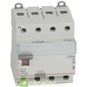DX3-ID 4PG 40A A 30MA - 411675 Legrand Interrupteur Différentiel