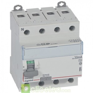 DX3-ID 4PG 80A A 30MA - 411677 Legrand Interrupteur Différentiel