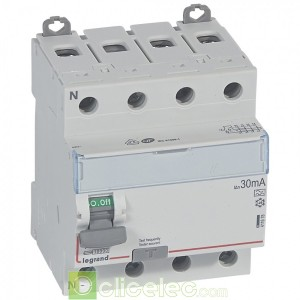 DX3-ID 4PG 100A A 30MA - 411678 Legrand Interrupteur Différentiel