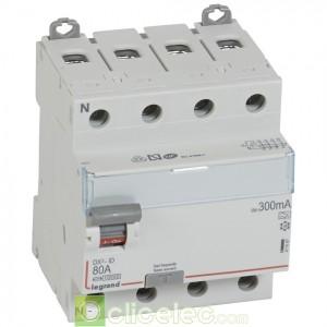 DX3-ID 4PG 80A A 300MA - 411687 Legrand Interrupteur Différentiel