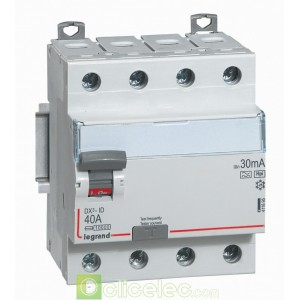 DX3-ID 4PG 40A HPI 30MA - 411695 Legrand Interrupteur Différentiel