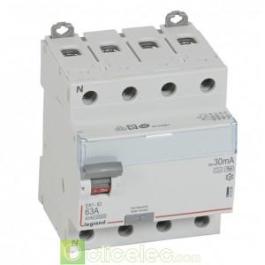 DX3-ID 4PG 63A HPI 30MA - 411696 Legrand Interrupteur Différentiel