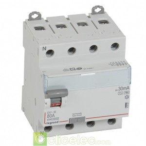 DX3-ID 4PG 80A HPI 30MA - 411697 Legrand Interrupteur Différentiel