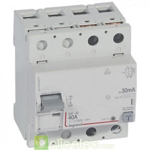 DX3-ID 2P 40A B 30MA - 411842 Legrand Interrupteur Différentiel