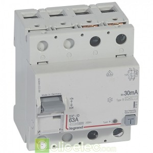 DX3-ID 2P 63A B 30MA - 411843 Legrand Interrupteur Différentiel