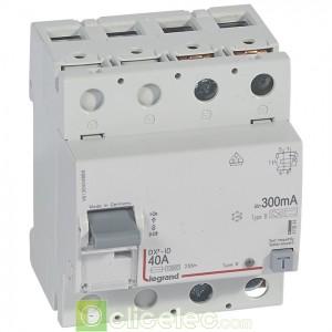DX3-ID 2P 40A B 300MA - 411844 Legrand Interrupteur Différentiel