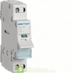 Interrupteur 1P 25A SBN125 Hager