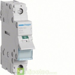 Interrupteur 1P 40A SBN140 Hager