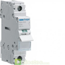 Interrupteur 1P 63A SBN163 Hager