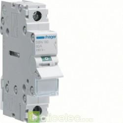 Interrupteur 1P 80A SBN180 Hager