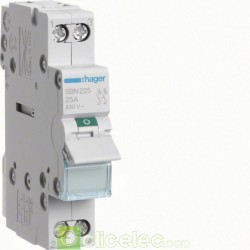 Interrupteur 2P 25A SBN225 Hager