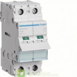 Interrupteur 2P 40A SBN240 Hager