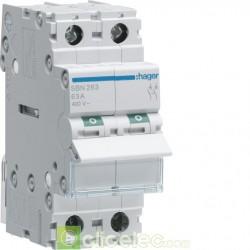 Interrupteur 2P 63A SBN263 Hager