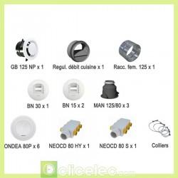 Kit bouches et accessoires réseau linéaire Optimocosy Atlantic