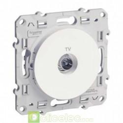 ODACE PRISE TV BLANC VIS S520445 Schneider