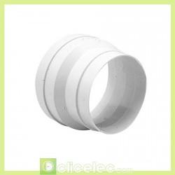 Réduction conique plastique, raccordement D 125/100 mm - 860408