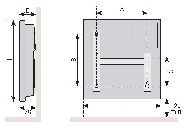 Schéma de coupe du convecteur électronique Évidence