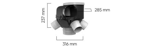 VMC autoréglable Autocosy Dimensions